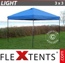 Tonnelle pliante FleXtents Light 3x3m Bleu