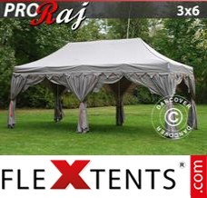 "Tonnelle pliante FleXtents PRO ""Raj"" 3x6m Latte/Orange"