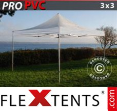 Tonnelle pliante FleXtents PRO 3x3m Transparent
