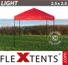 Tonnelle pliante FleXtents Light 2,5x2,5m Rouge