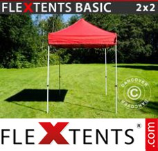 Tonnelle pliante FleXtents Basic, 2x2m Rouge