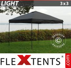 Tonnelle pliante FleXtents Light 3x3m Noir