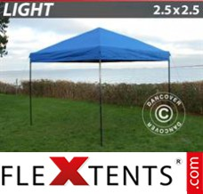Tonnelle pliante FleXtents Light 2,5x2,5m Bleu
