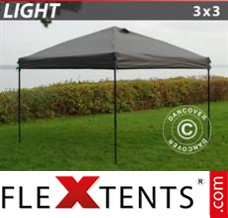 Tonnelle pliante FleXtents Light 3x3m Grise
