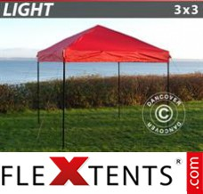 Tonnelle pliante FleXtents Light 3x3m Rouge