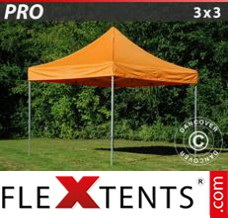 Tonnelle pliante FleXtents PRO 3x3m Orange